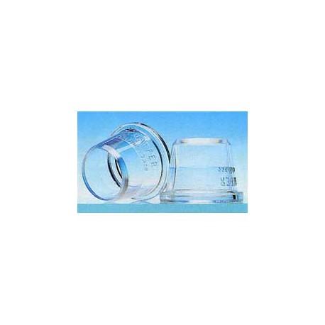 Douille en polycarbonate non cannelée 1,1 cm