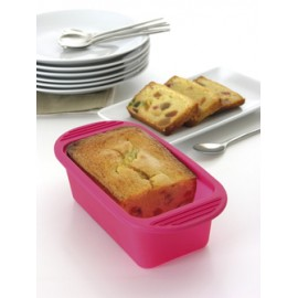 Terrine en silicone framboise 500 g avec couvercle Mastrad
