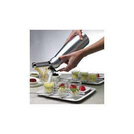 Siphon Mastrad 0.25 litre pour Mousses chaudes ou froides et chantilly