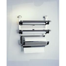 Dérouleur triple Rösle : combinaison du dérouleur double avec le dévidoir essuie-tout (Kit de fixation inclus)