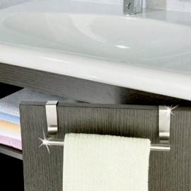 Barre porte-torchon adaptable portes et tiroirs en inox brossé PM