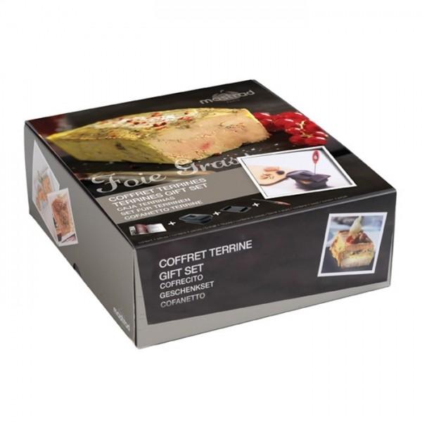 Kit Réussir son foie gras terrine silicone et presse livre Terrines Thermomètre électronique avec sonde