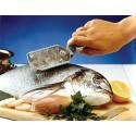 Ecailleur à poisson en inox et plastique