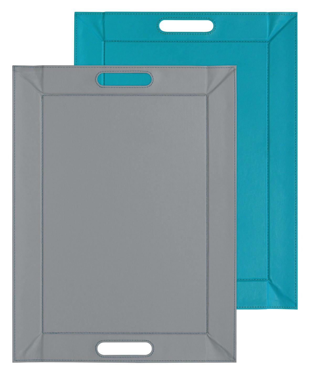 Turquoise et gris